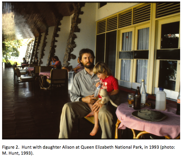 Hunt and daughter, 1993